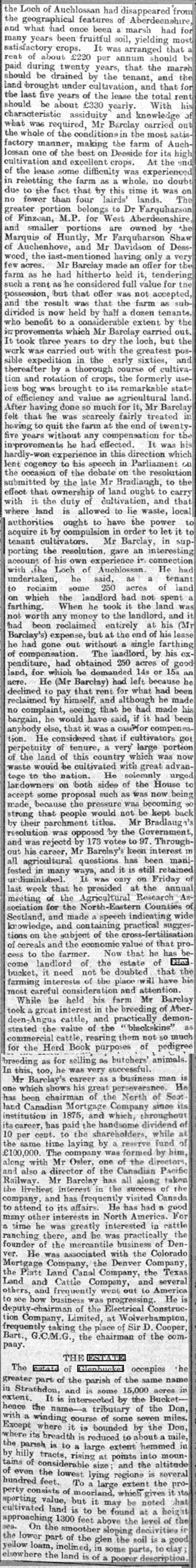 16  J. W. Barclay, New Glenbucket Laird.  Part 3