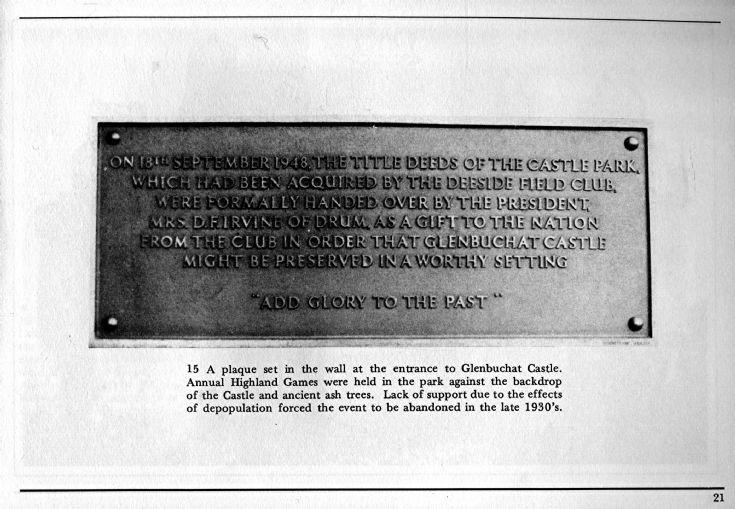 22 Plaque Glenbuchat Caste