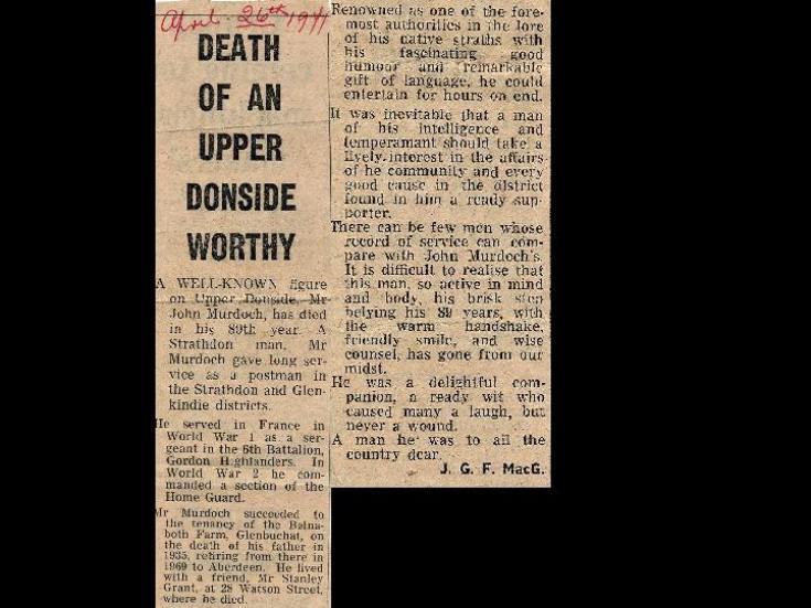 125 John Murdoch Obituary