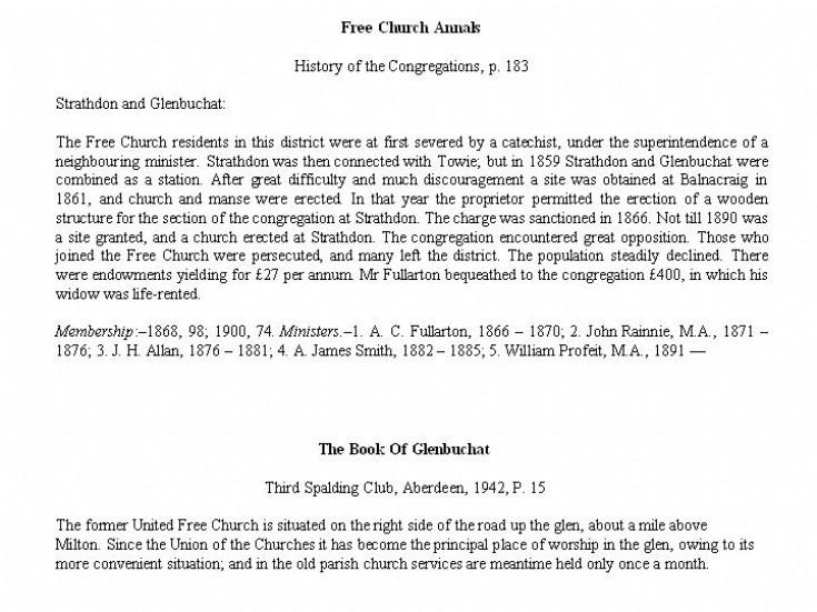36 Free Church Annals
