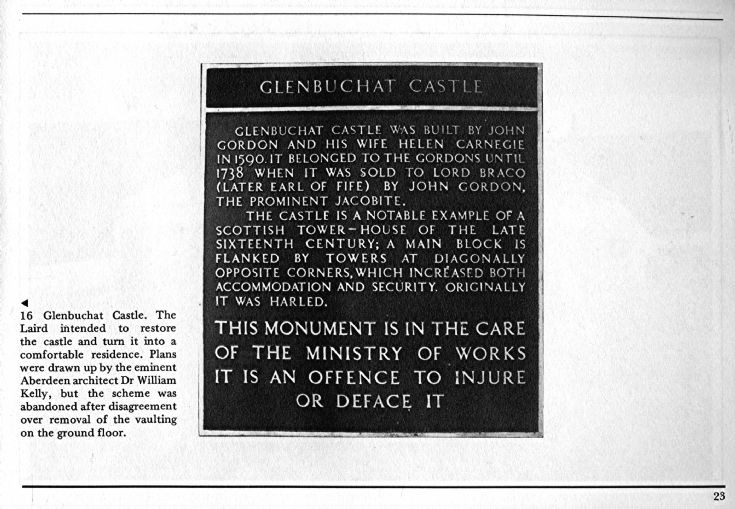 25 Plaque Glenbuchat Castle