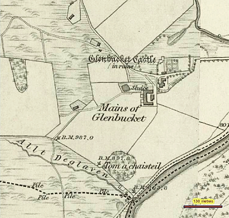 14 Glenbuchat Castle, Tom a' Chaisteil,