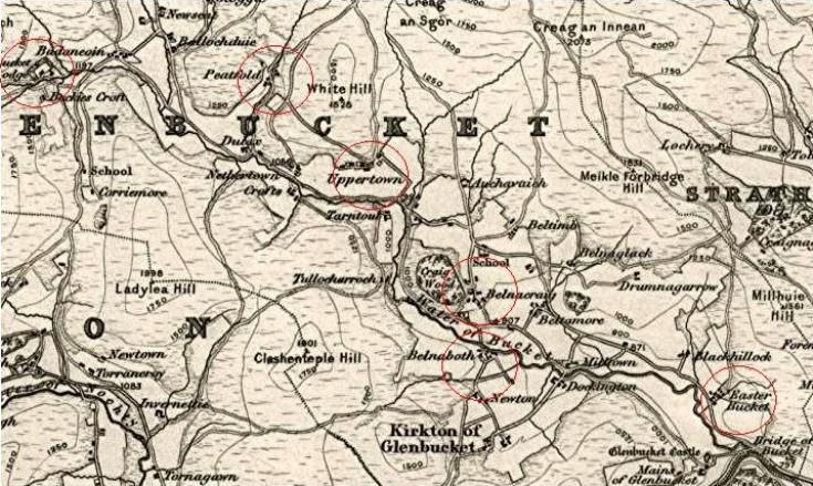 32 Glenbuchat Clachans 1865 map