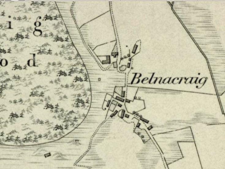 33 Belnacraig 1865 Map