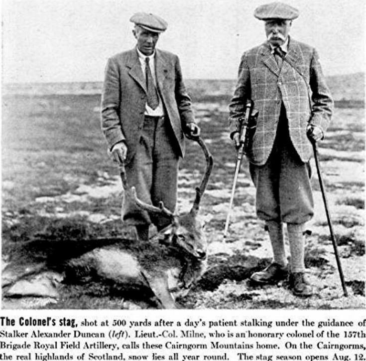 61 Col George Milne Stalking 1937