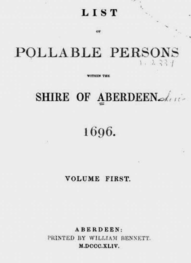 65 1696 Poll Book (Census)