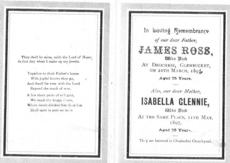 37 Funeral Card James Ross