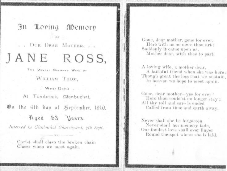 38 Funeral Card Jane Ross