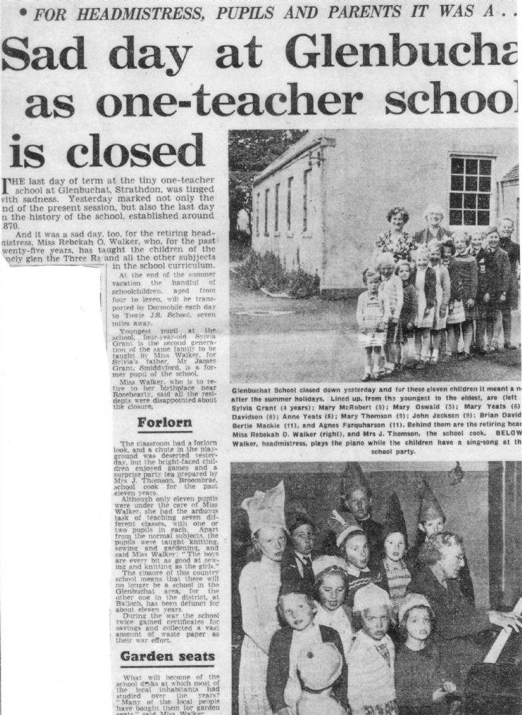 42 Glenbuchat School Closure 1960
