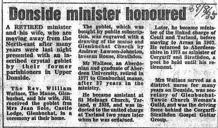 69 Rev Wallace retirement
