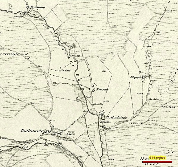 67 Ryntaing 1850 Map of valley