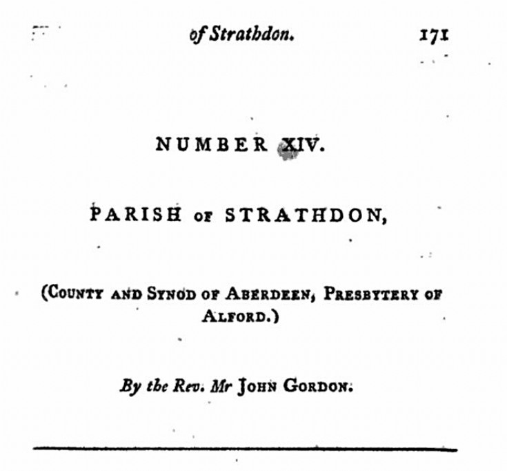 72 1791 Statistical Account Strathdon