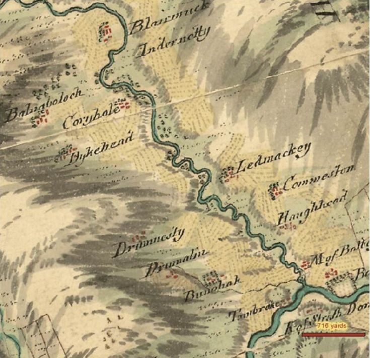 78 Belnaboddach Roys Military Map 1747