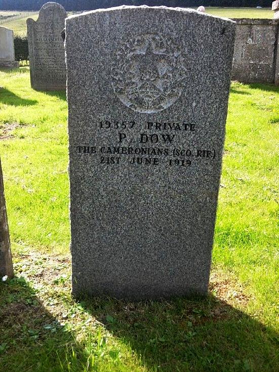 84 Gravestone of Private P Dow