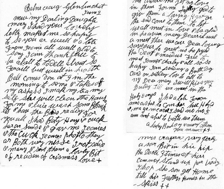 94 Letter to Jane Kellas Belnacraig early 1920's