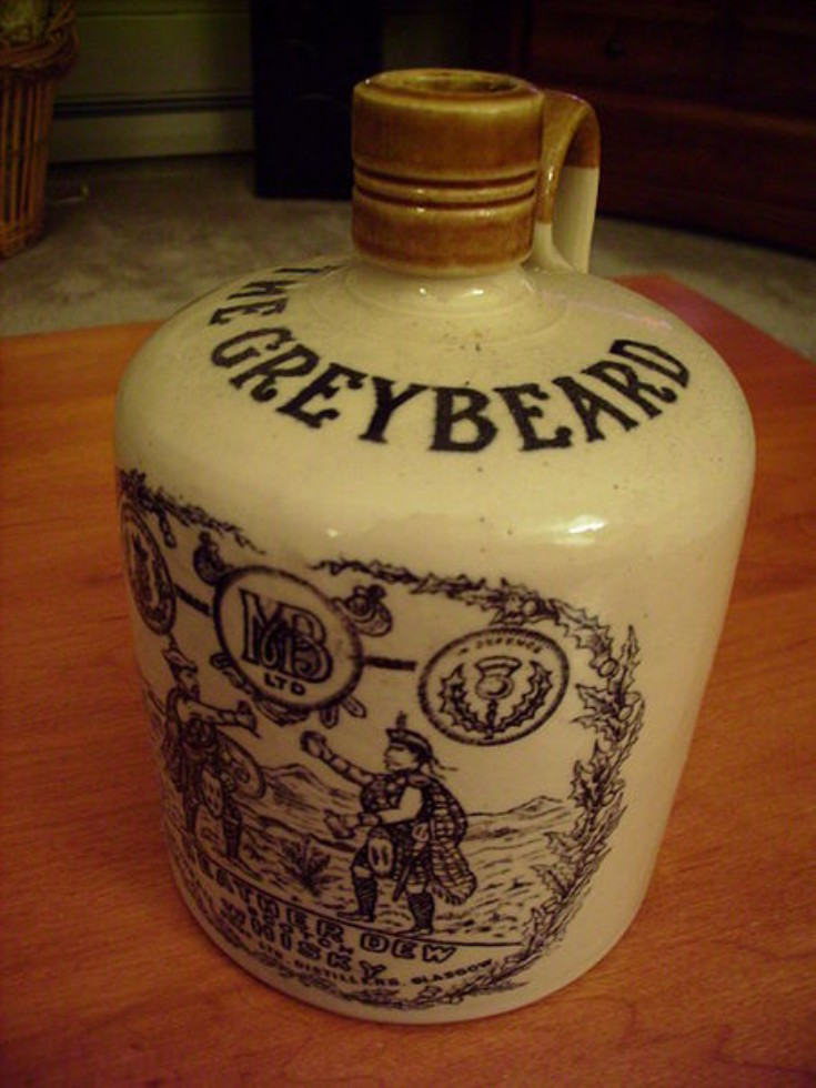 19 Greybeard whisky bottle