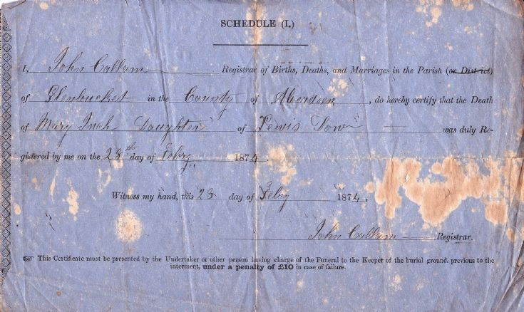 96 Mary Inch Death Cert