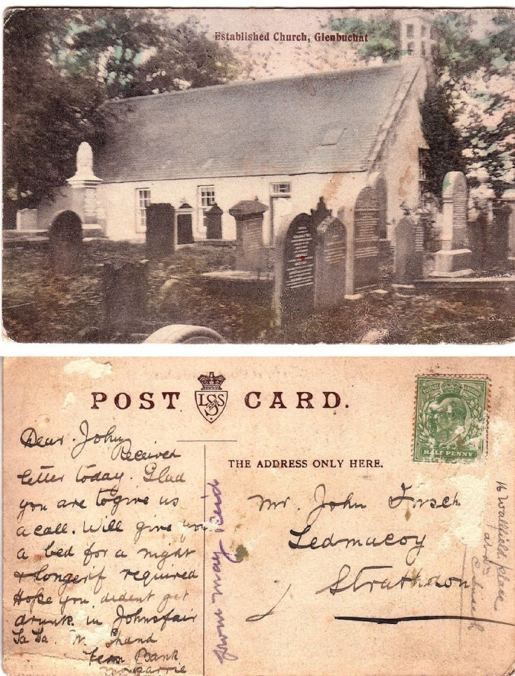 119 Old Kirk Post card about 1905