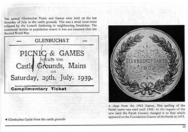 15 Glenbuchat Games