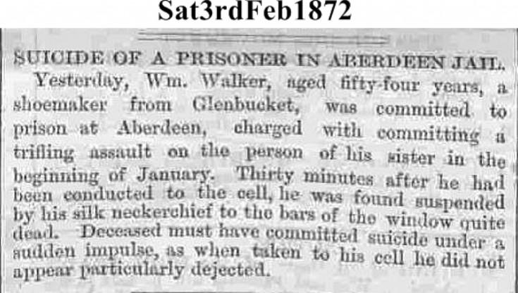 8. Suicide of William Walker Upperton 1872