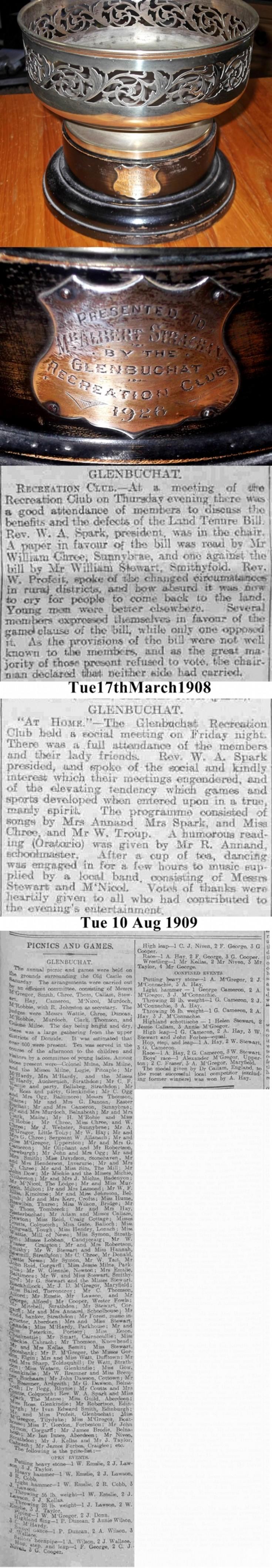 158 Albert Strachan Presentation trophy 1926