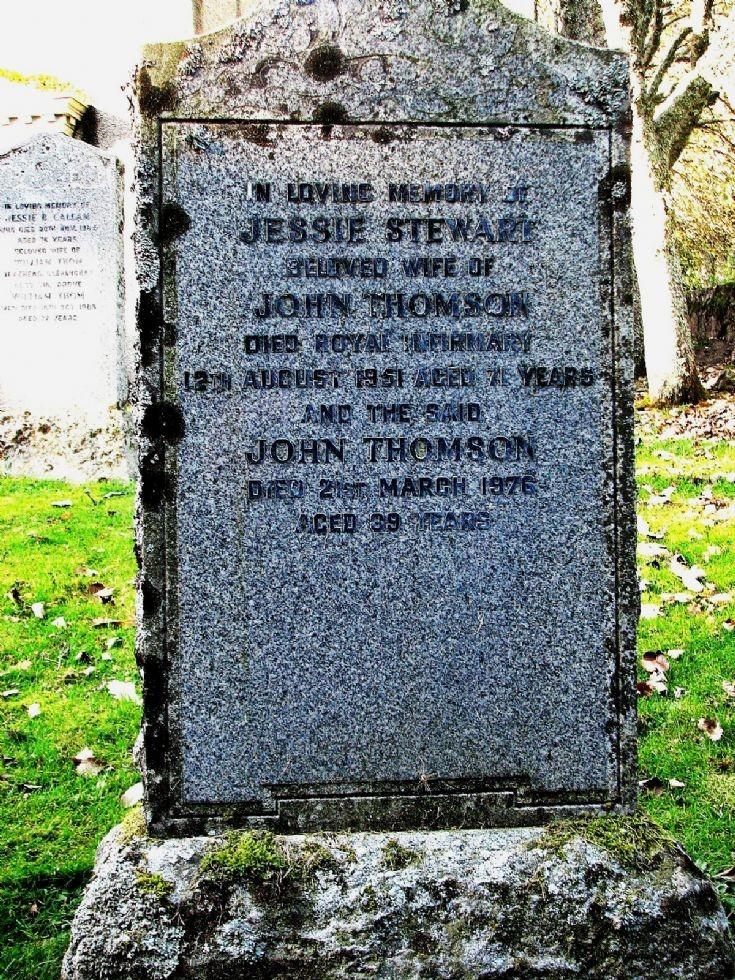 4 Grave Stone No 1 Jessie Stewart
