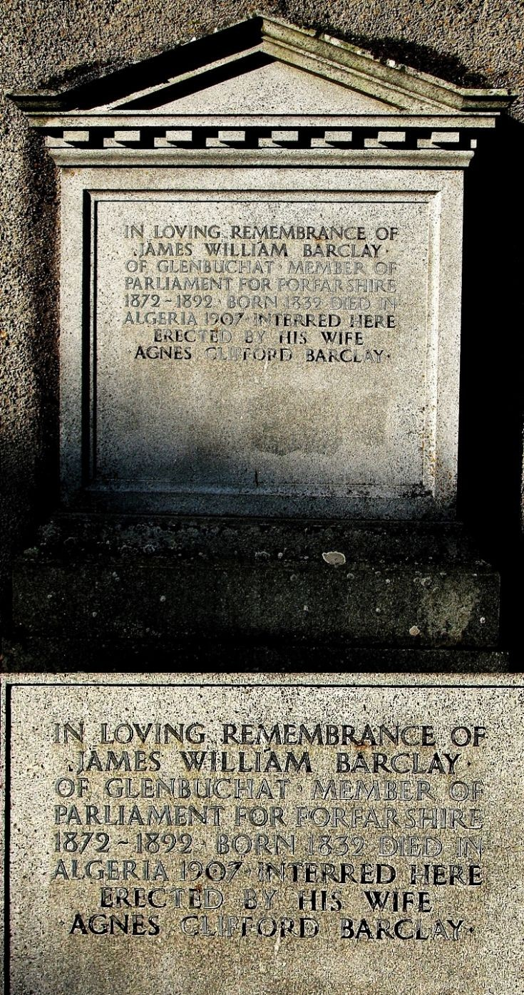 9 Grave Stone No 6 James William Barclay MP