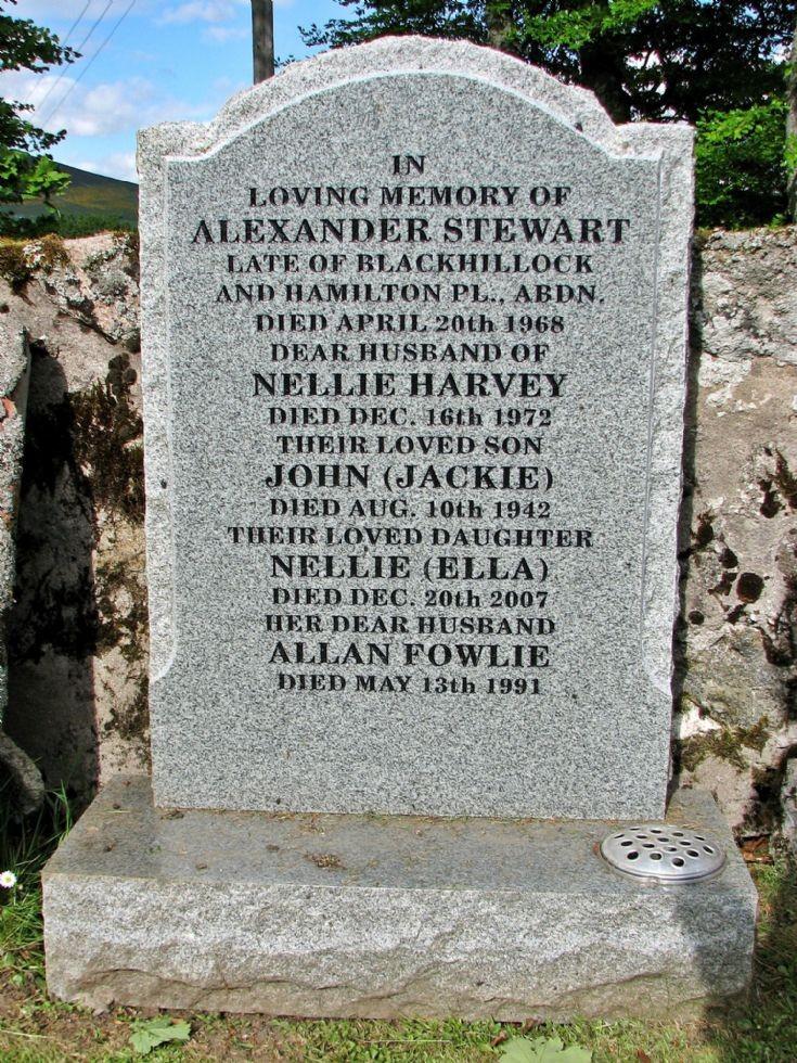 15 Grave Stone No 12 Alexander Stewart