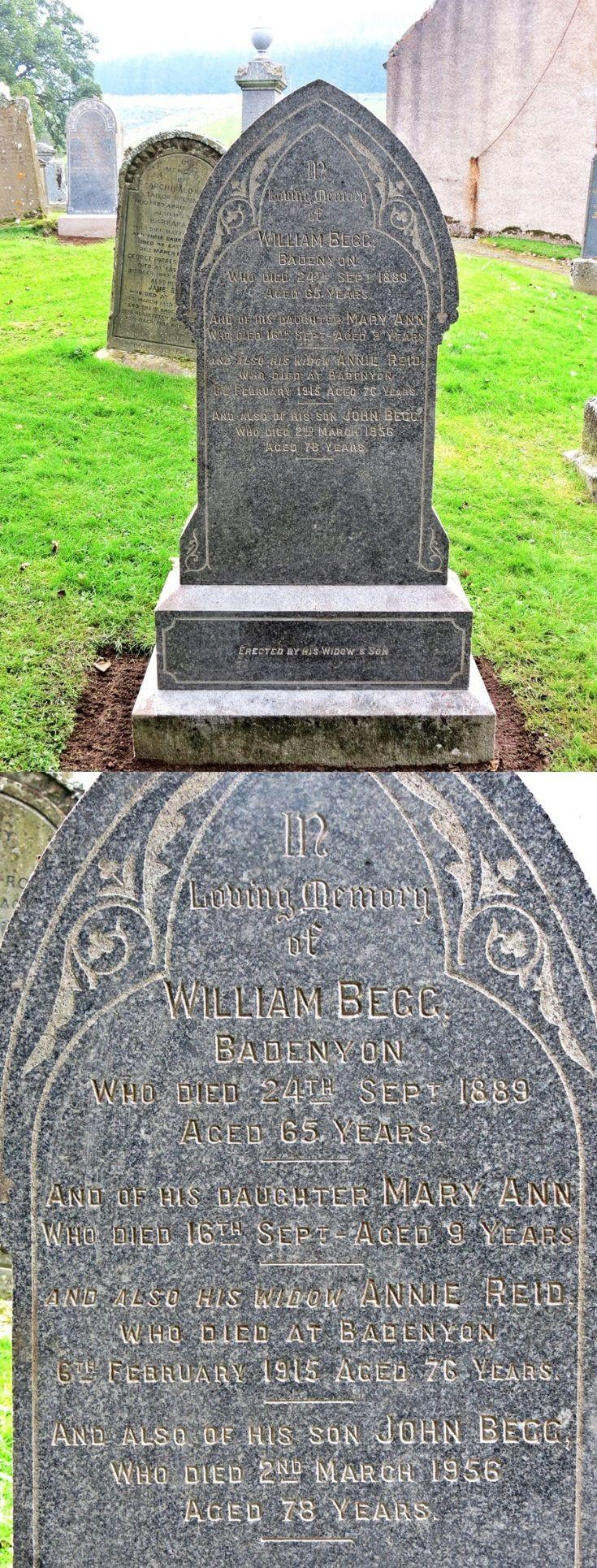 16 Grave Stone No 13 William Begg