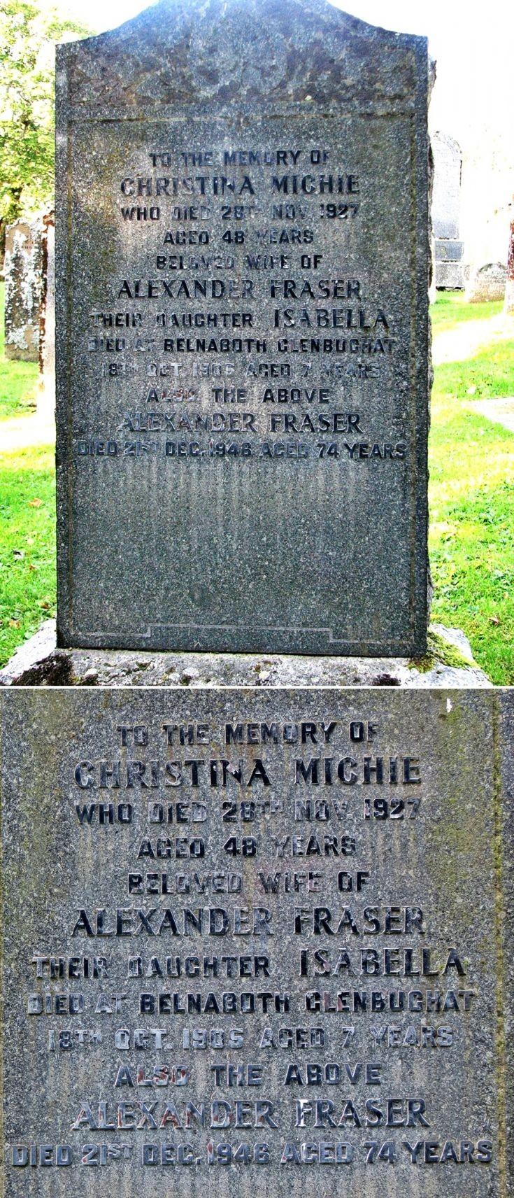23 Grave Stone No 20 Christina Michie