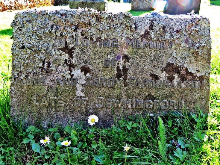 24 Grave Stone No 21 Annie and Sandy Farquharson