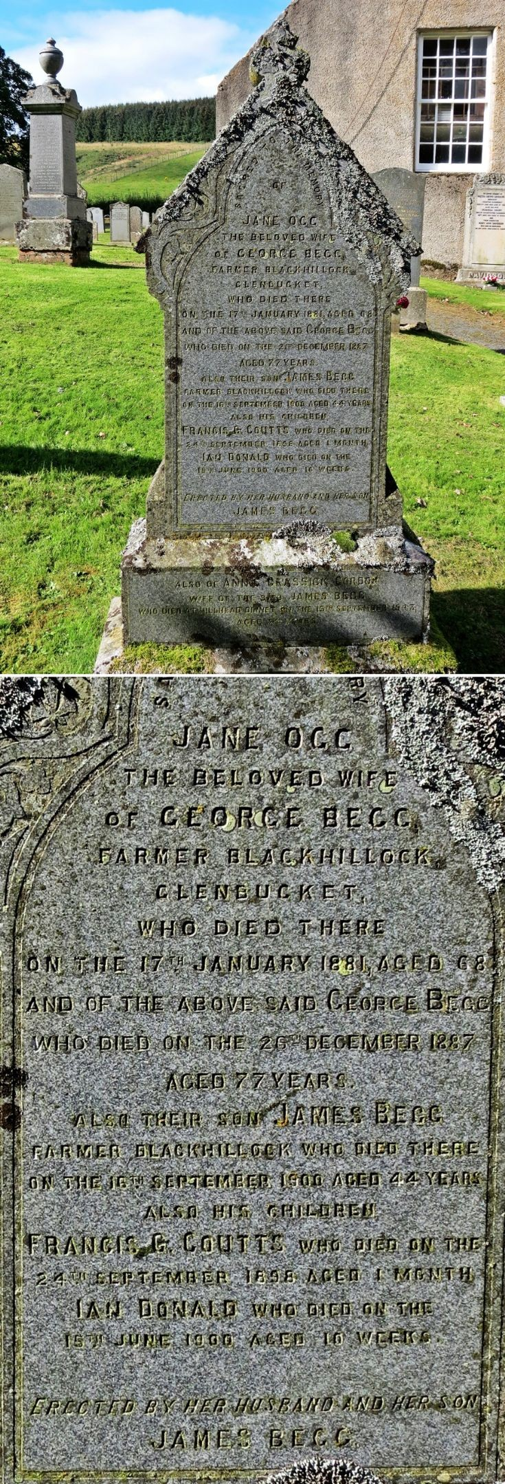 26 Grave Stone No 23 George Begg