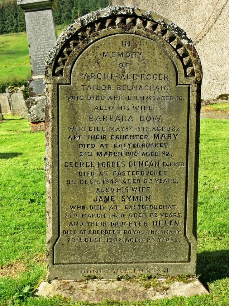 27 Grave Stone No 24 Archibald Roger