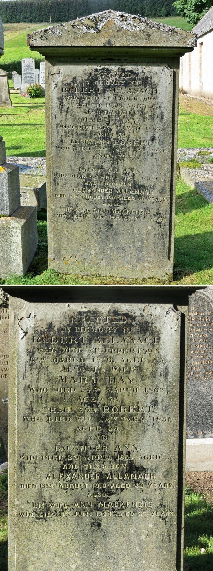 30 Grave Stone No 29 Robert Allanach