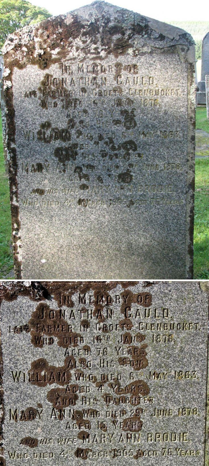 34 Grave Stone No 35 Jonathan Gauld