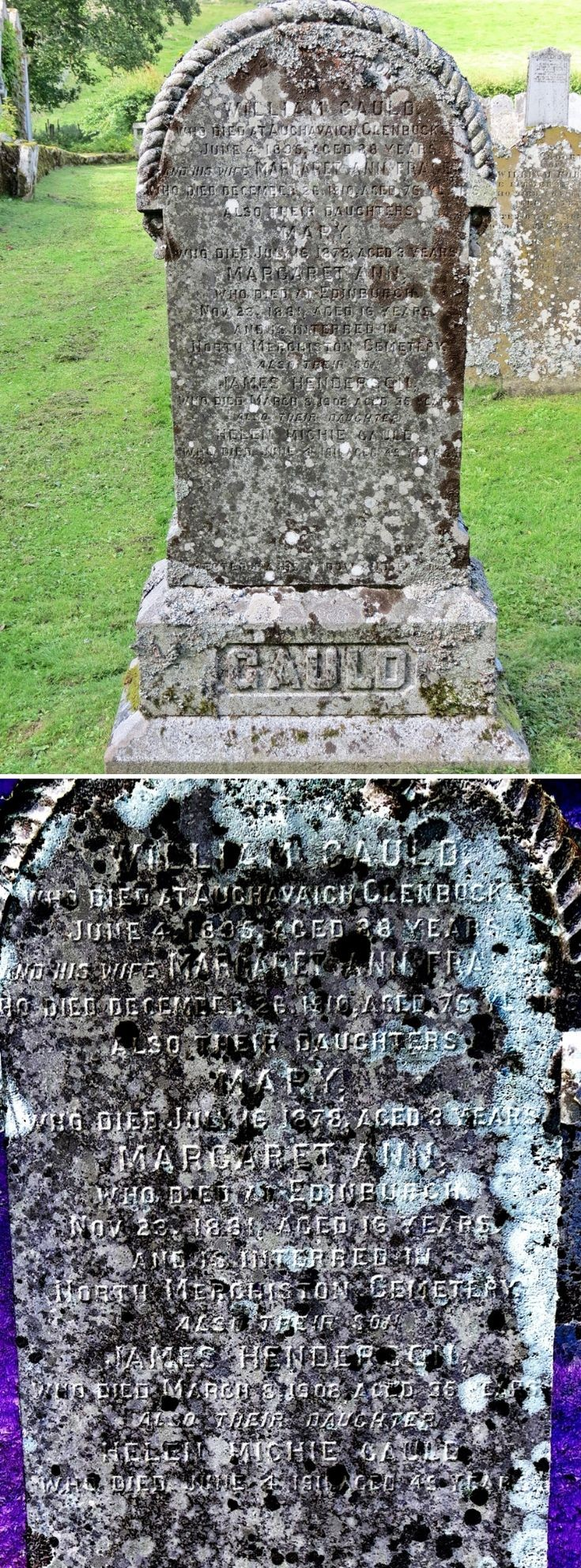 34 Grave Stone No 37 William Gauld