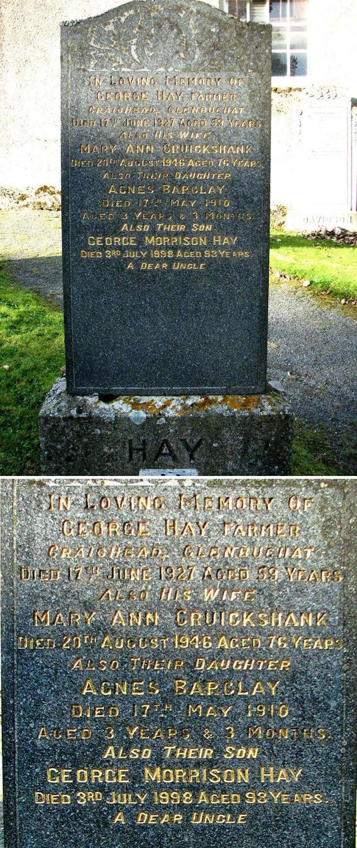 35 Grave Stone No 38 George Hay
