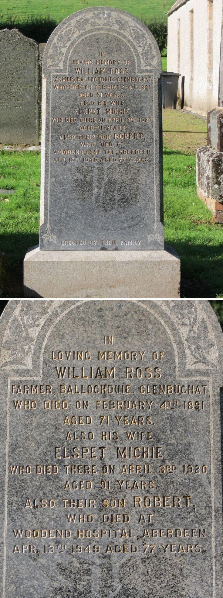 36 Grave Stone No 39 William Ross
