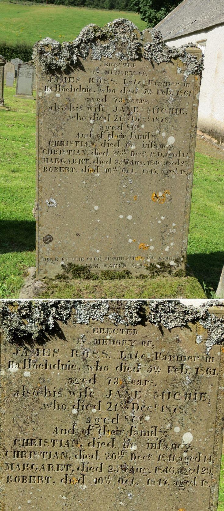 37 Grave Stone No 40 James Ross
