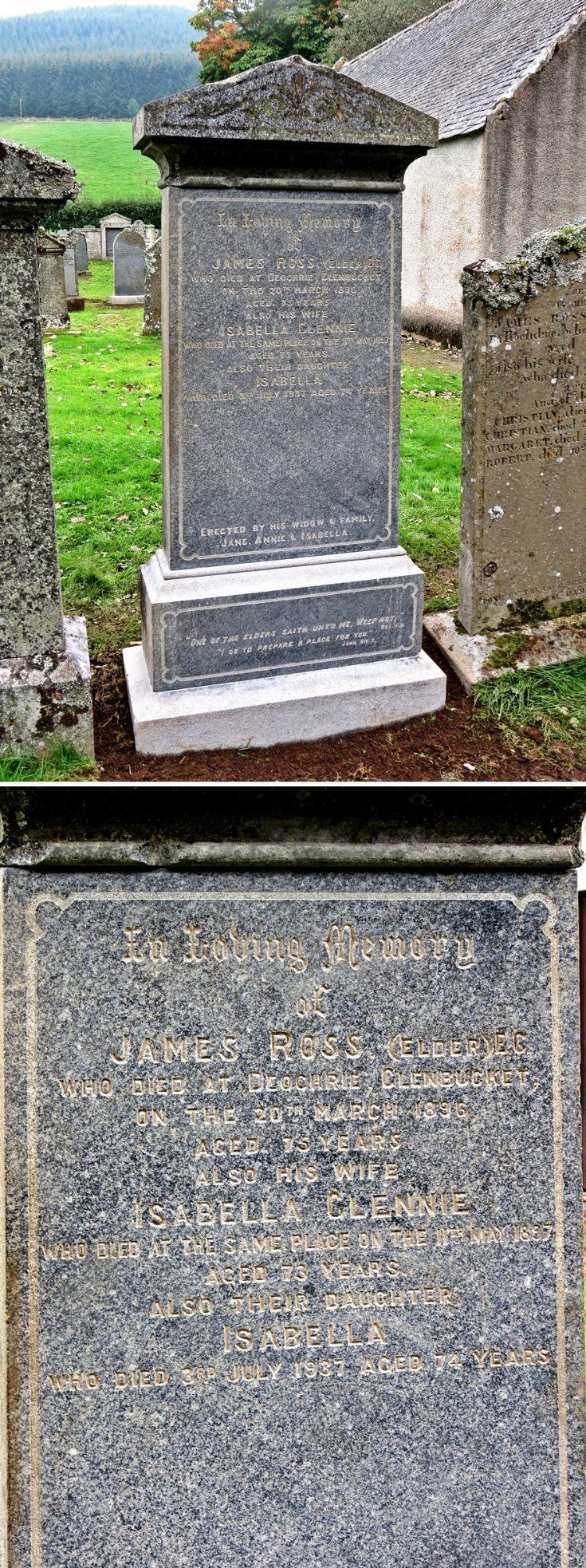 38 Grave Stone No 41 James Ross (Elder)