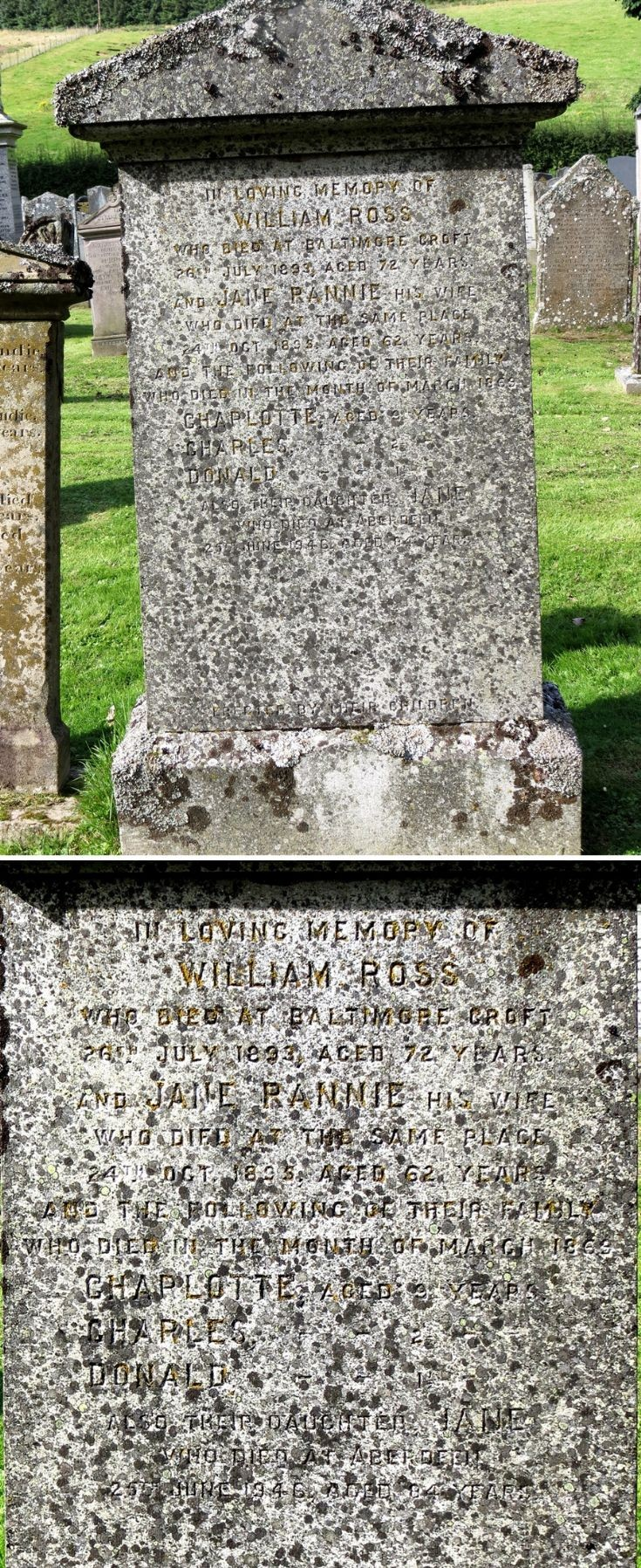 39 Grave Stone No 42 William Ross (Baltimore)
