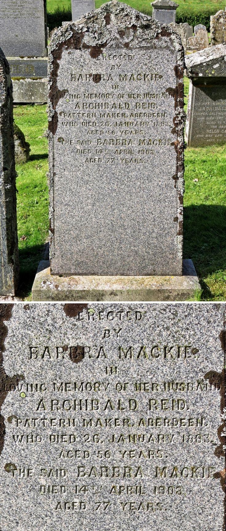 45 Grave No 50 Archibald Reid Pattern Maker