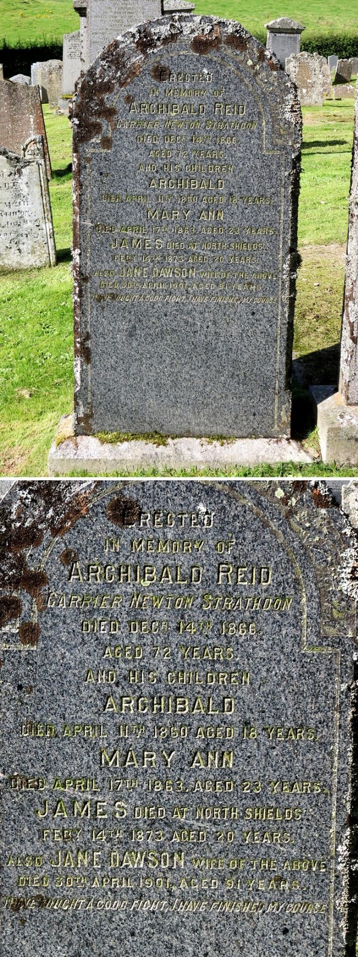 46 Grave No 51 Archibald Reid - Carrier
