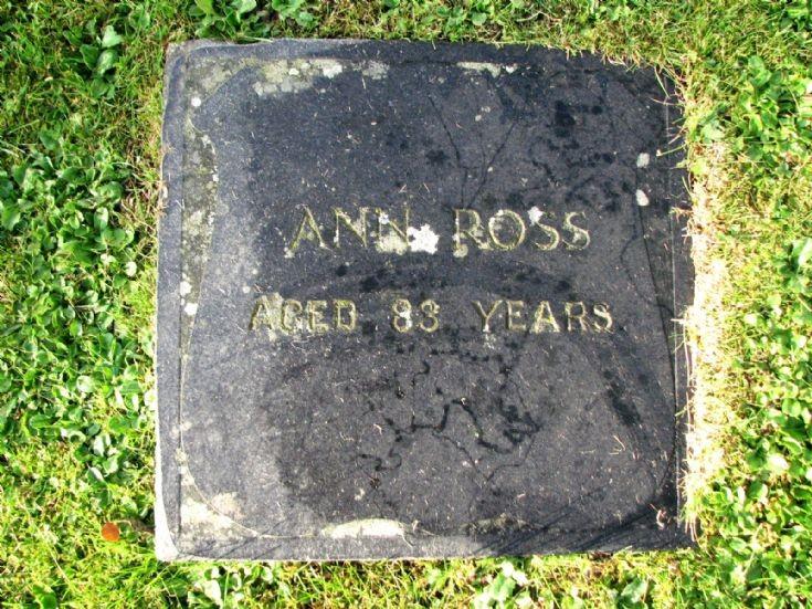 50 Grave No 57 Ann Ross