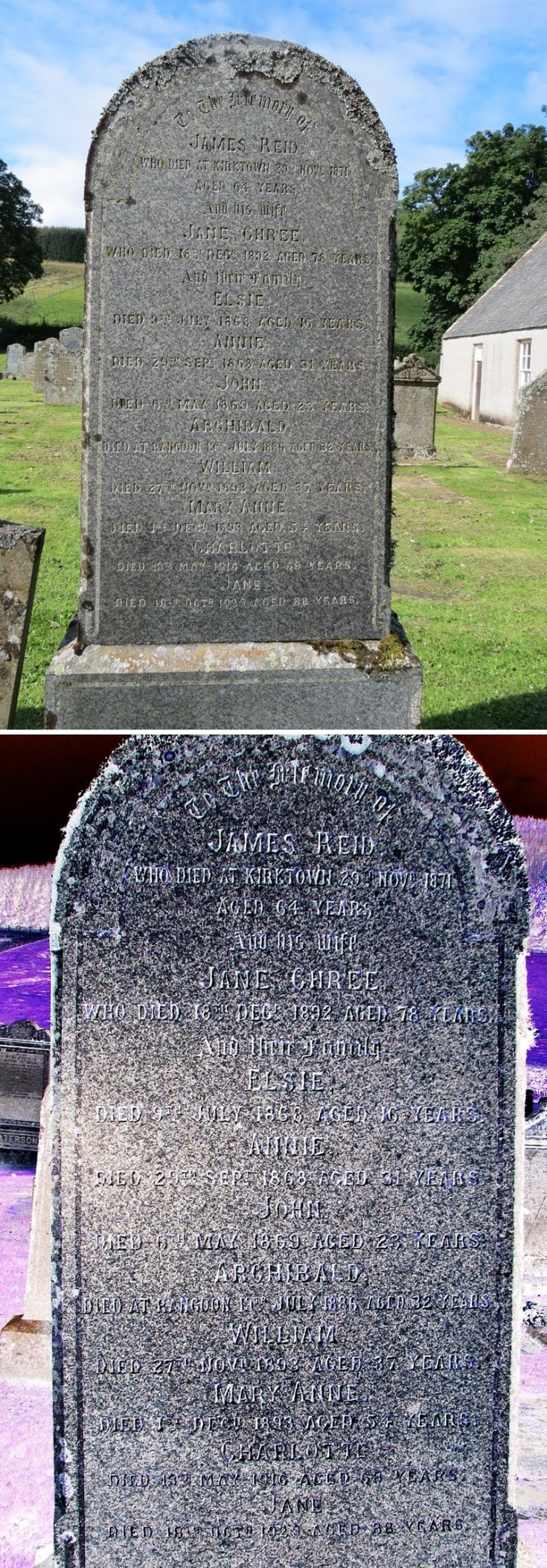 51 Grave No 58 James Reid