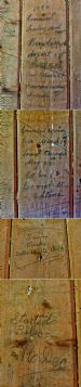 16 Balnagowan Steading wall writing