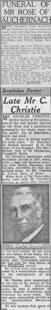 12 Strathdon Funerals 1940/41