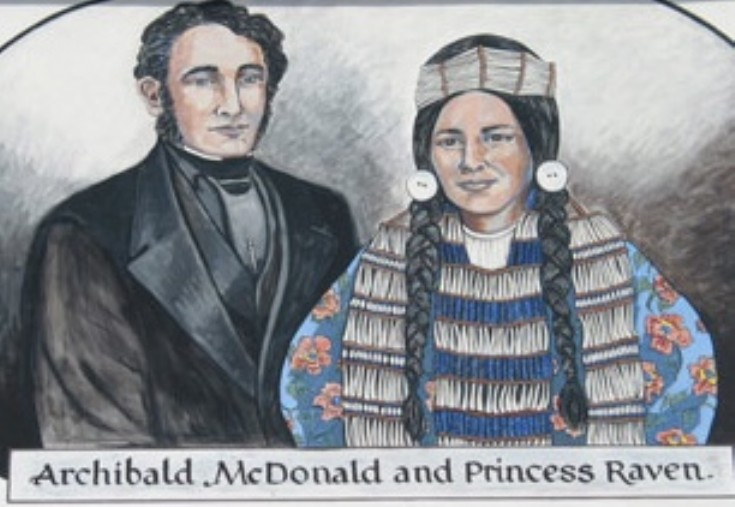 Archibald MacDonald and his Chinook Wife 1823