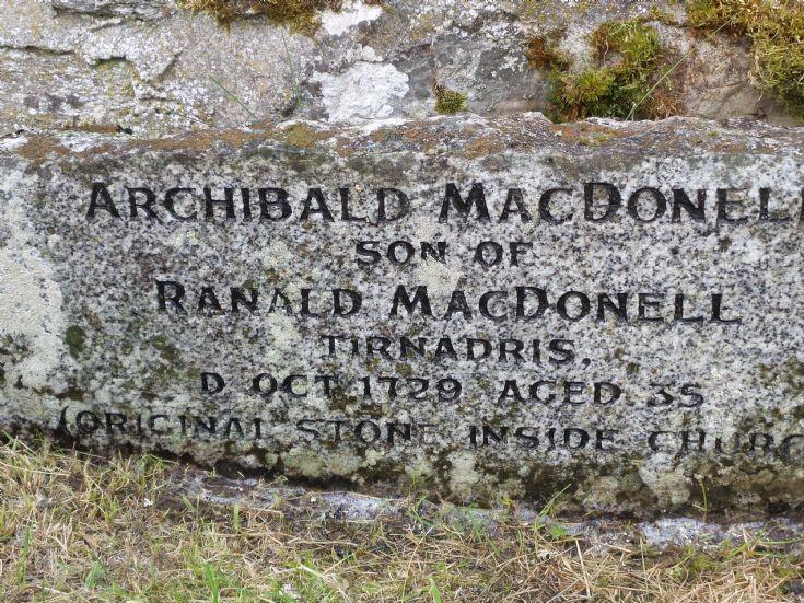 Replica Headstone MacDonell of Keppoch Family - 20