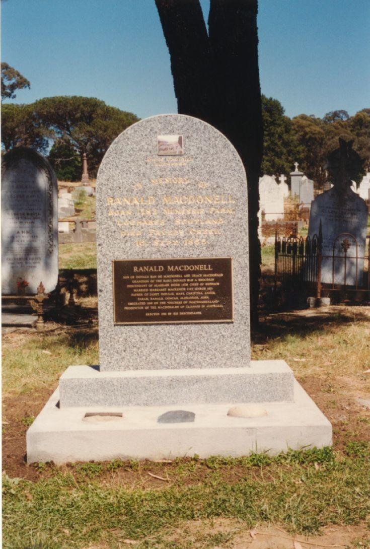 Ranald MacDonell Headstone